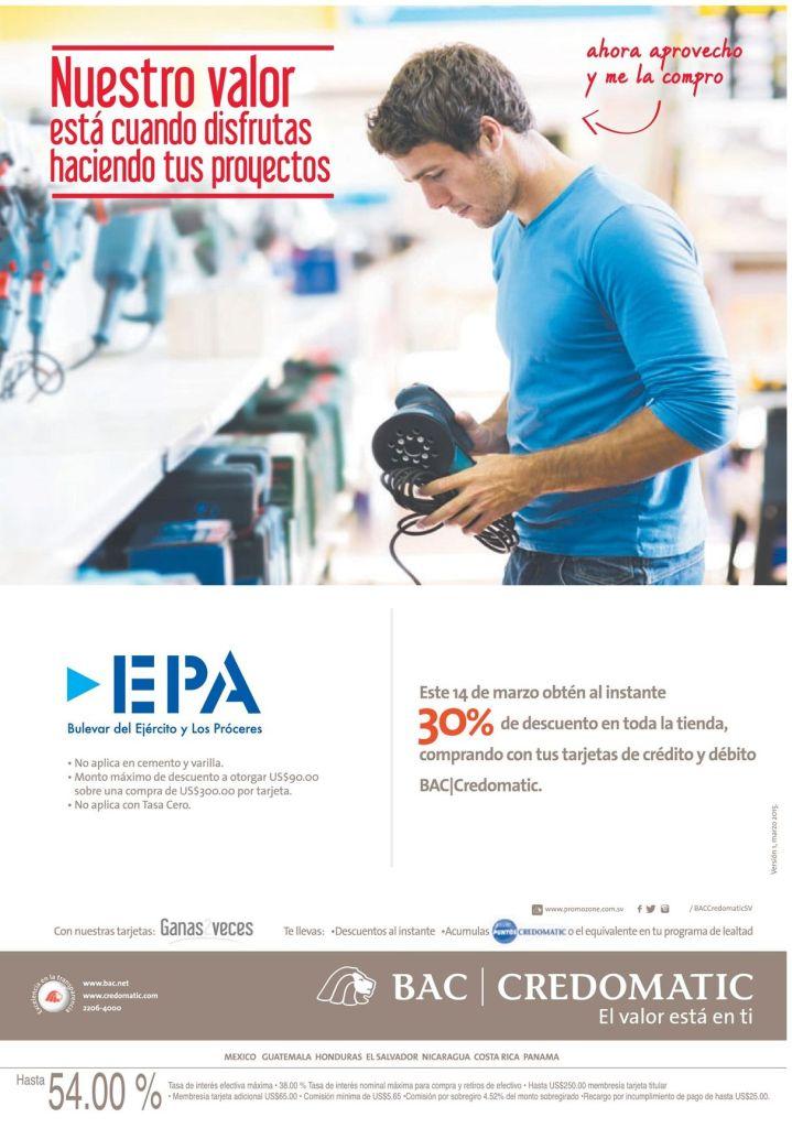 Disfrutas haciendo tus proyecto 30 OFF en EPA gracias a CREDOMATIC - 14mar15