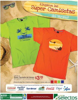 Estrena estas coloridas camisetas en verano SUPER SELECTOS - 31mar15