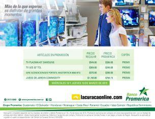 Grandes descuentos en LA CURACAO online con tarjetas banco promerica - 18mar15