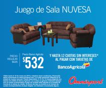 Juego de sala NUVESA promociones omnisport y banco agricola - 17mar15