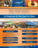 La Despensa de Don Juan LA CIMA grandes promociones por re inauguracion - 28mar15