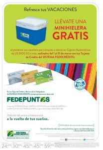 Llevate una MINI HIELERA gratis en vacaciones con FEDEPUNTOS - 07mar15