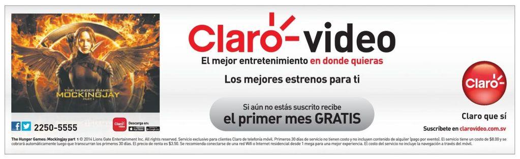 MOCKINGJAY the movie on stream CLARO video - 07mar15