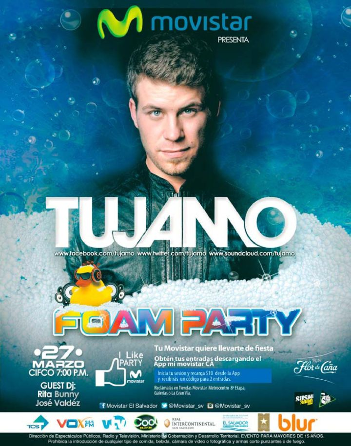 MOVISTAR pesenta FOAM PARTY electronic music by TUJAMO