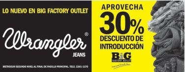 NUEVOS jeans wrangler BIG factory outlet - 13mar15