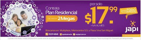 OFERTAS internet residencial 2MB gracias a JAPI - 07mar15