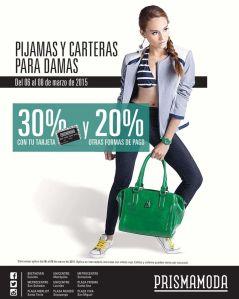 Prisma Moda fin de semana DESCUENTOS pijamas y carteras para damas - 06mar15