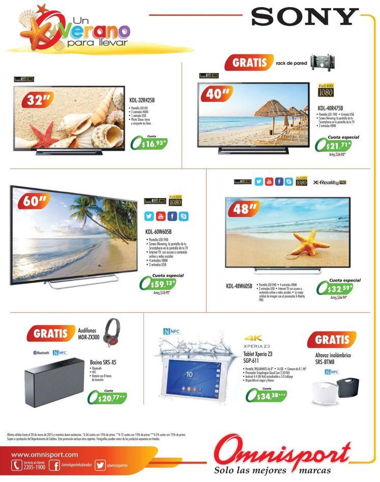 SONY productos for summer season