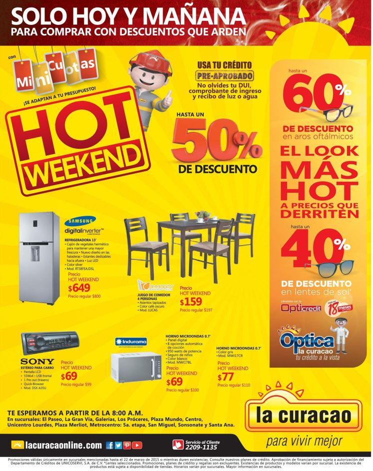 Solo hoy y manana en la curacao hot week - 21mar15