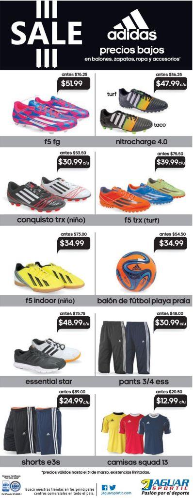 Sporty OUTFIT adidas SALE gracias a Jaguar Sportic - 06mar15