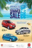 Super precio de verano en tu auto nuevo SUZUKI