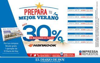 Verano con ofertas LLANTAS Hankook - 23mar15