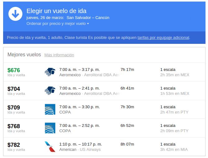 Vuelos a cancun mexico GOOGLE search flights