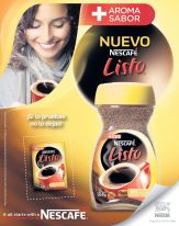 new coffee NESCAFE LISTO mas aroma mas sabor