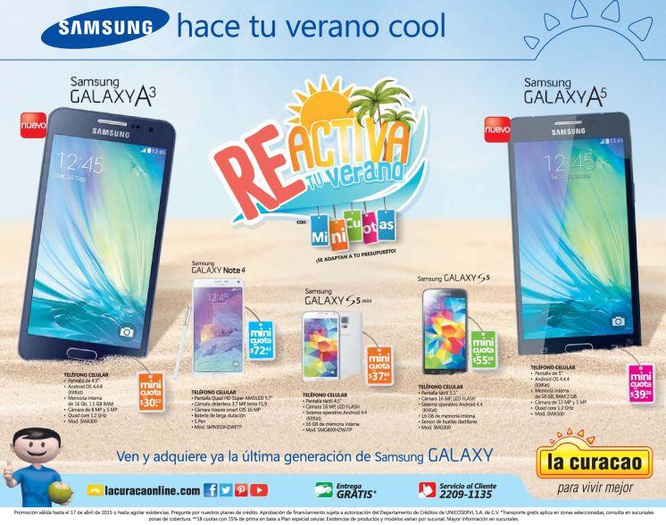 new smartphones SAMSUNG galaxy A3 and A5 promociones LA CURACAO - 07mar15