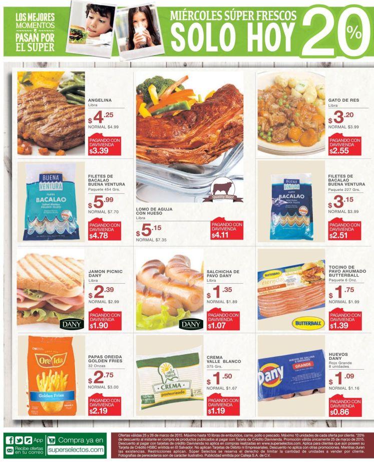 oferta super selectos Papas fritas GOLDEN FRIES - 25mar15