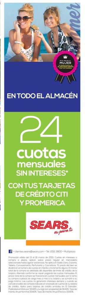 promociones solo para MUJERES sears - 13mar15