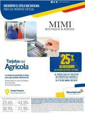 25 OFF en MIMI boutique apparel wedding con banco agricola - 24abr15