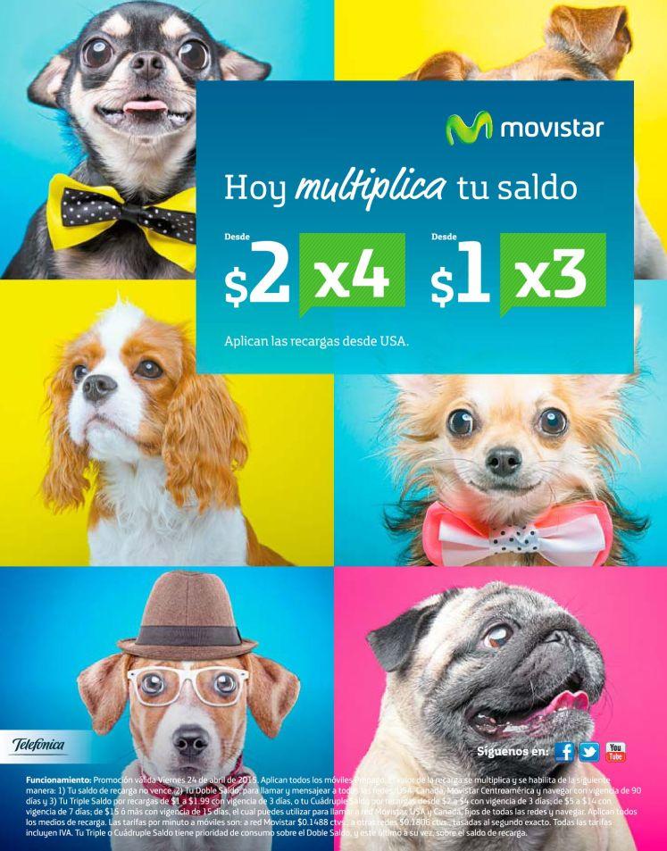 Ahora multiplica tu saldo MOVISTAR - 24abr15