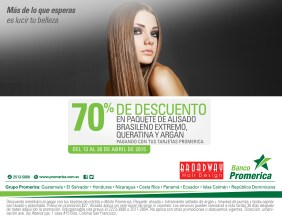 BROADWAY hair design discount 70 OFF card Banco Promerica