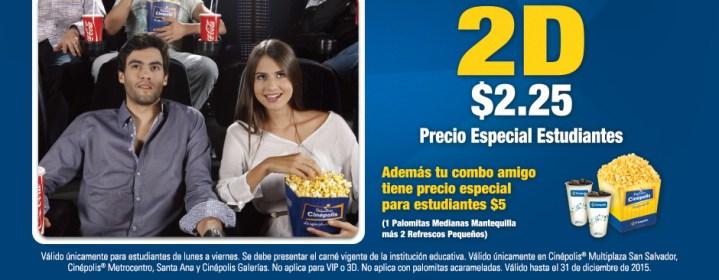 CINEPOLIS Precios especiales para estudiantes con carne
