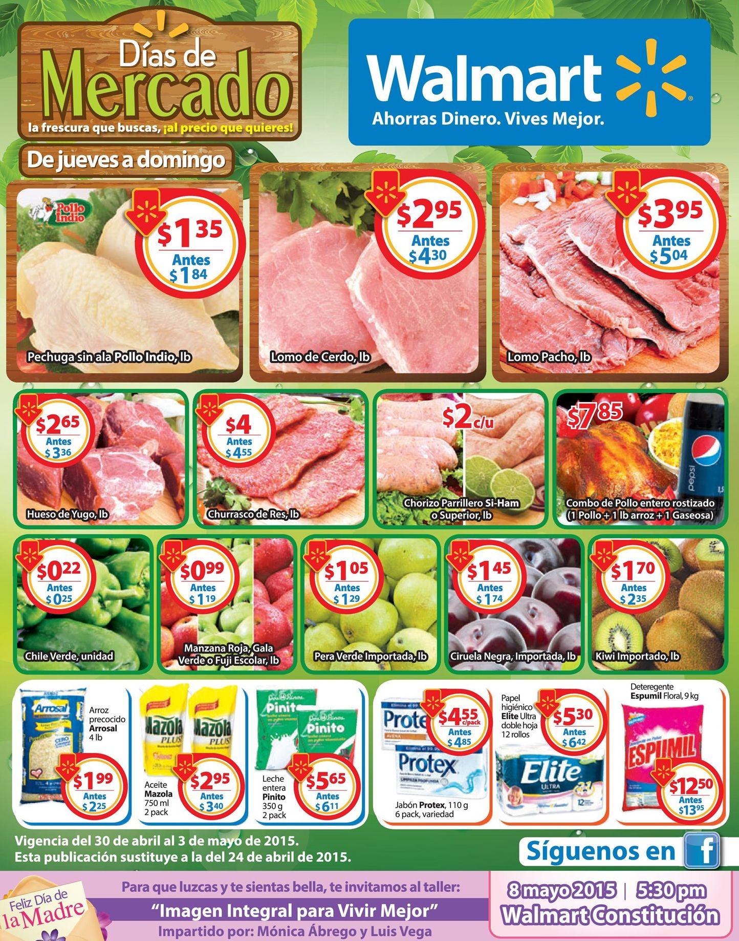 CIRUELAS KIWI MANZANA PERA UVA frutas frescas en WALMART - 30abr15
