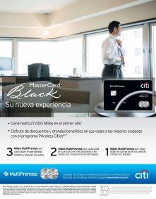 CITI BANK credit card master card BLACK