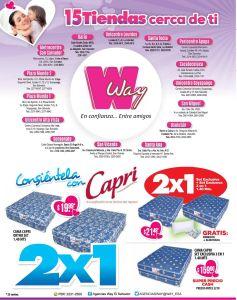 Camas CAPRI para mama 2x1 en agencias WAY - 24abr15