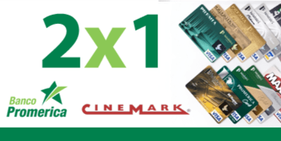 Credit CARD banco promerica el salvador cinemark theater 2x1