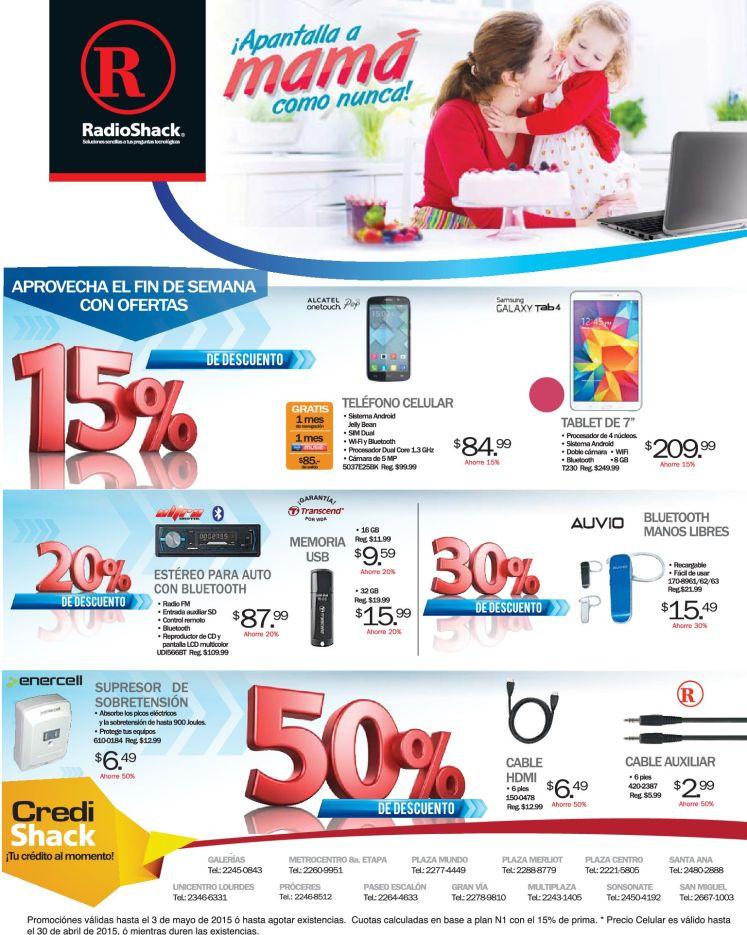 Descuentos RADIOSHACK para apantallar a mama tablet smartphone and more - 30abr15