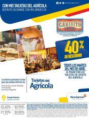 Este martes y todos los martes de abril 40 OFF en CAMINITO CHOCOS restaurant
