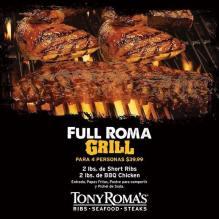 FULL ROMA GRILL para comer en familia tony romas