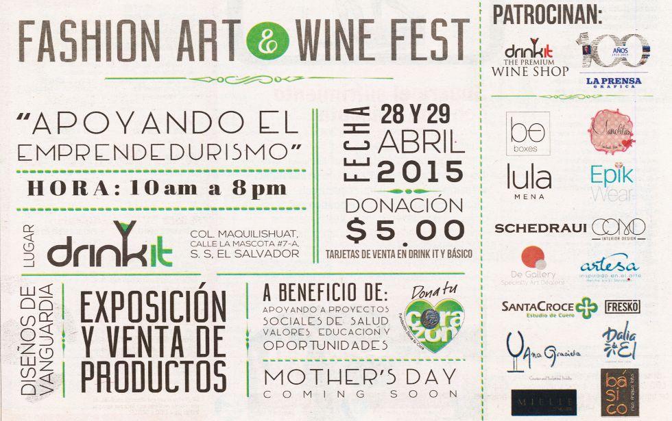 Fashion ART and WINE Fest drinkIT elsalvador