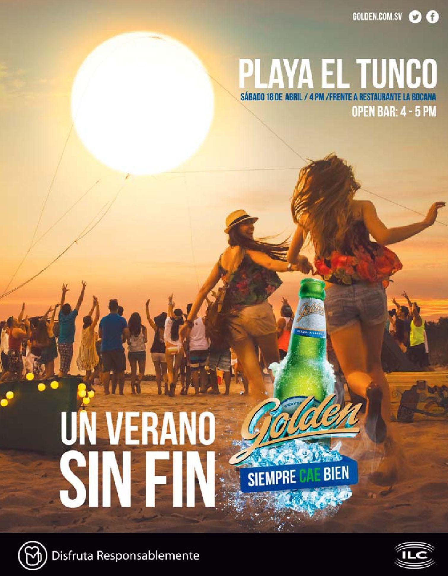 Fiesta de verano en PLAYA EL TUNCO este sabado 18 de abril