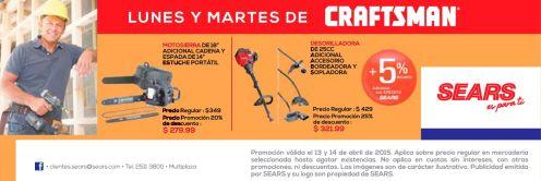 Herramientas para tu jardin MOTOSIERRA y PODADORA craftsman by SEARS - 13abr15