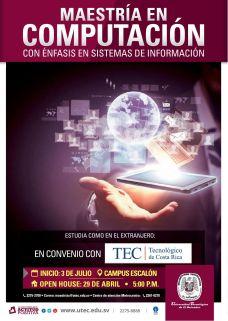 MAESTRIA en computacion Universidad Tecnologica convenio costa rica