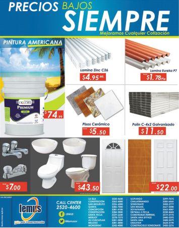 Ofertas en pisos ceramicos desde 5.50 de dolar en LEMUS ferreteria - 06abr15