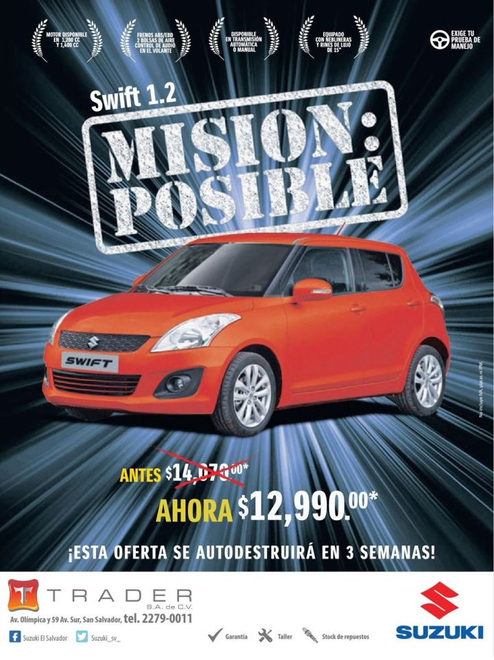Suzuki Switf 1.2 SAVINGS now shopping