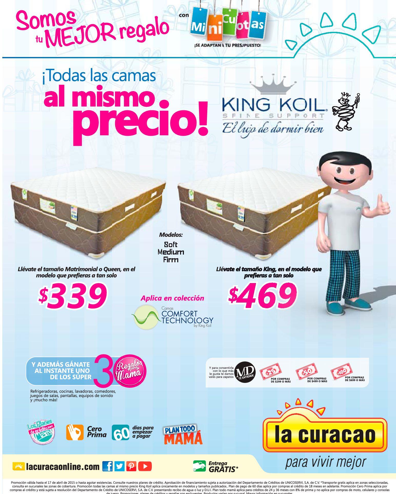 Todas las camas al mismo precios KING KOIL Bed spine support