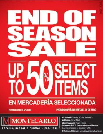 Up to 50 percent off MONTECARLO trajes para caballero - 24abr15