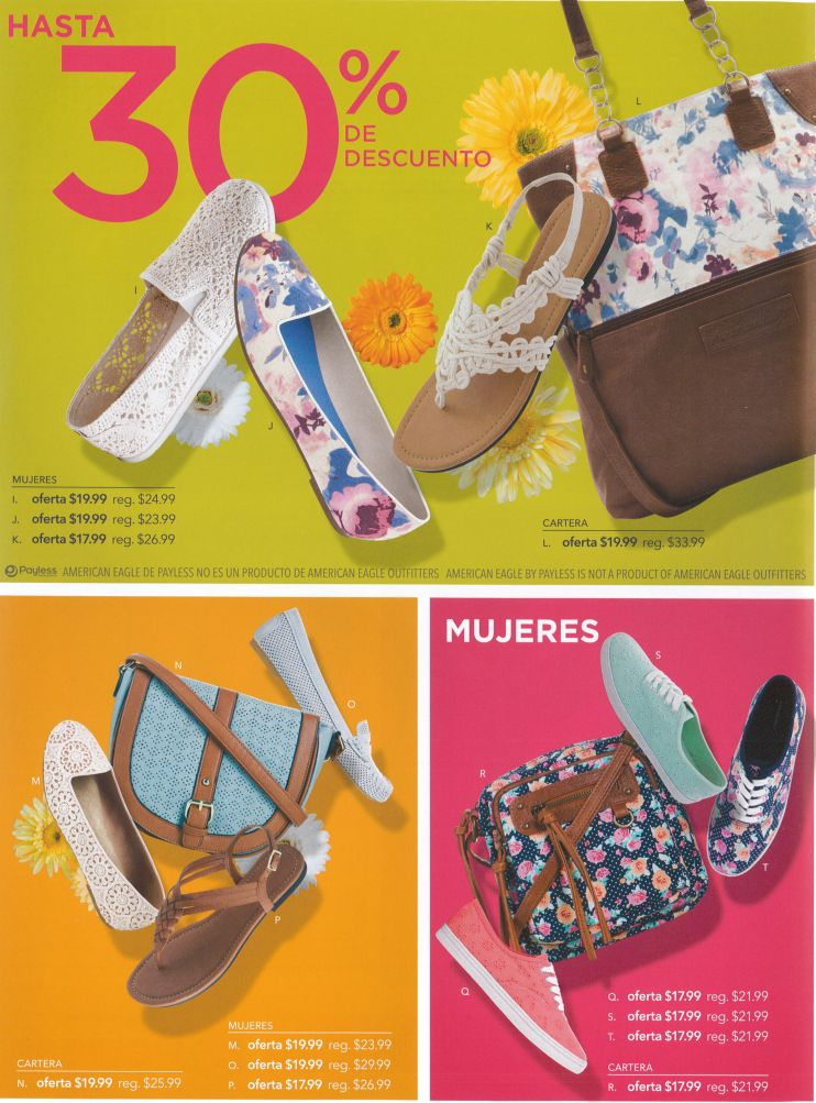 Very nice discounts for her SANDALS and BAGS