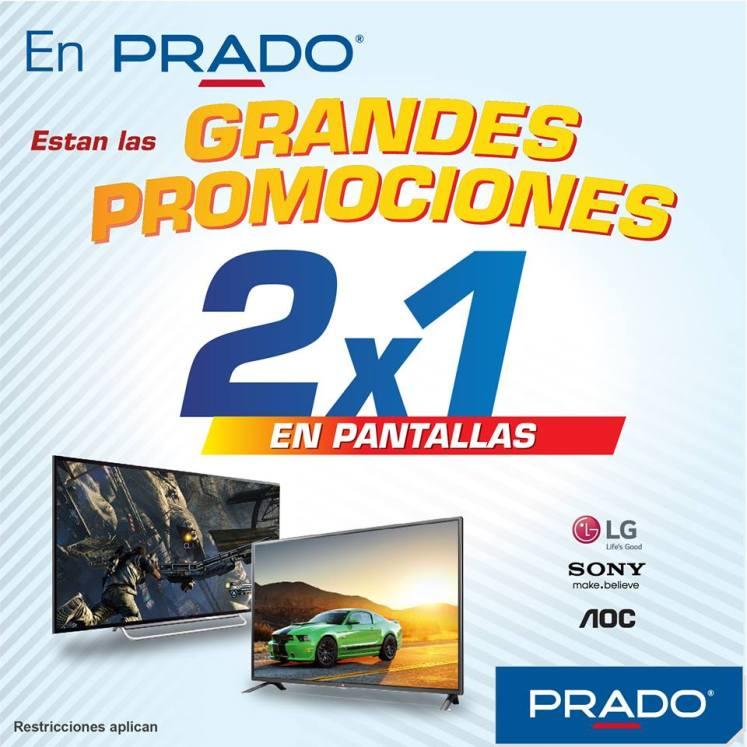 grandes promociones 2x1 en pantallas y televisores LG SONY AOC