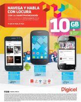 10 GB de navegacion SMARTphoneMANIA de DIGICEL elsalvador - 16may15