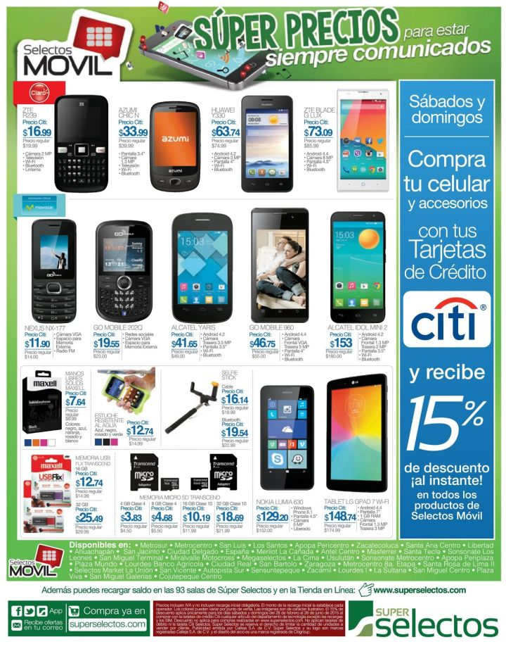 Acceosrios para celulares de bajo costo SELECTOS MOVIL - 02may15