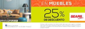 Ahora 25 por ciento de descuento en MUEBLES sears - 04may15