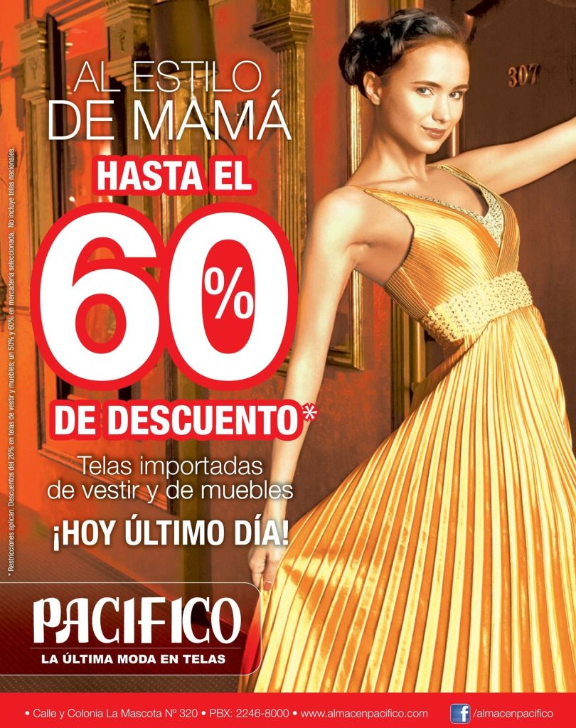 Al estilo de mama con 60 OFF en telas pacifico - 09may15