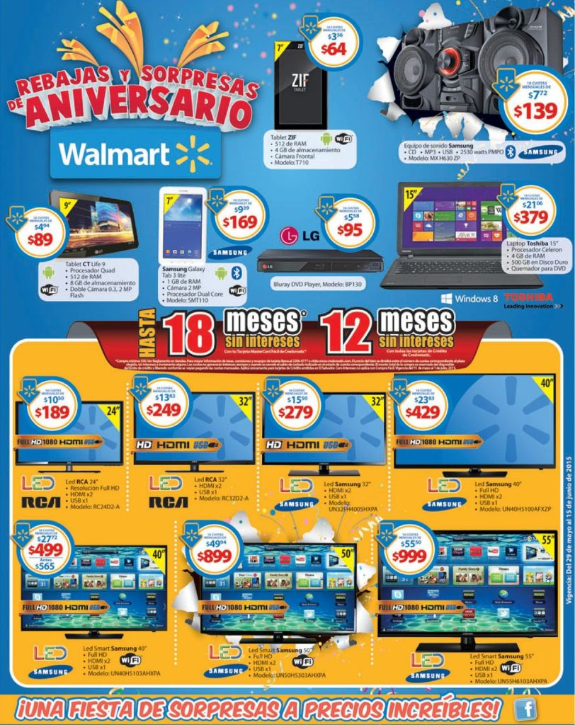 Audio Video Tecnologia con grandes OFERTAS WALMART de aniversario - 29may15