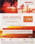 Clase economica a SAN ANDRES costa rica via AVIANCA promociones