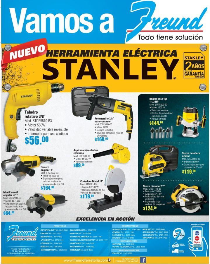 FREUND Ofertas y Promociones en herramientas electricas STANLEY