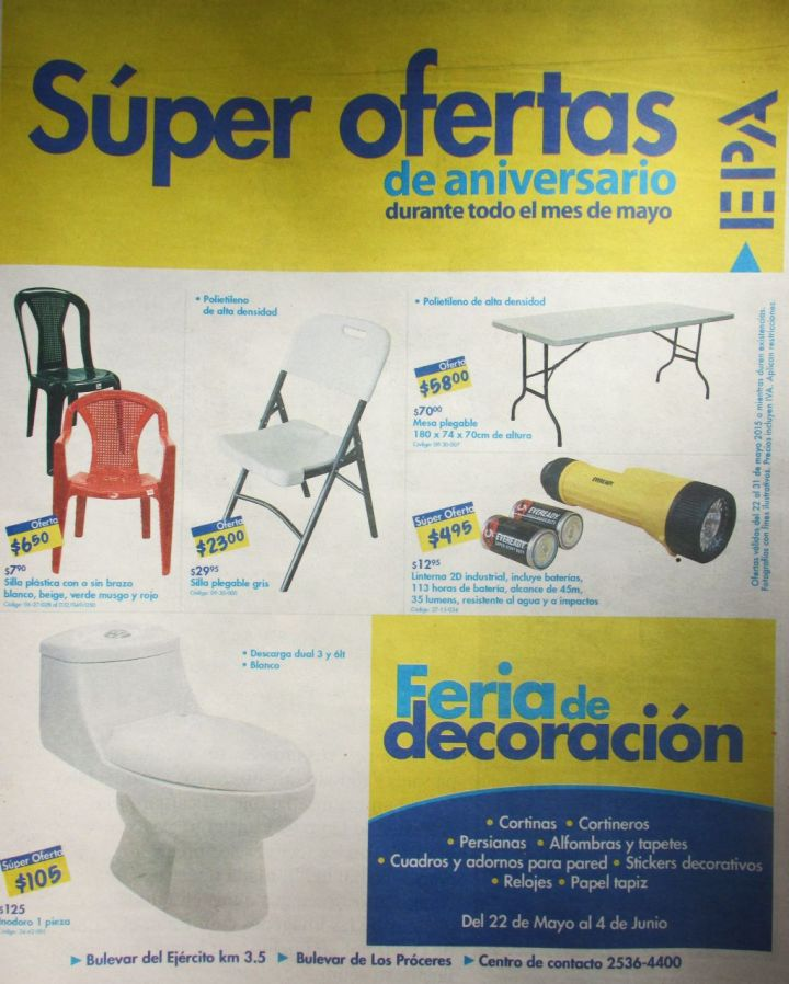 Feria de Decoracion EPA ofertas de hoy - 22may